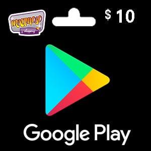 گیفت کارت گوگل پلی ۱۰ دلاری