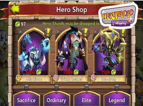 castle clash hero buy2 - آموزش گرفتن هیرو ها در بازی کستل کلش
