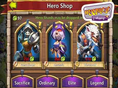 castle clash hero buy3 - آموزش گرفتن هیرو ها در بازی کستل کلش