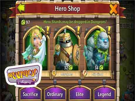 castle clash hero buy4 - آموزش گرفتن هیرو ها در بازی کستل کلش