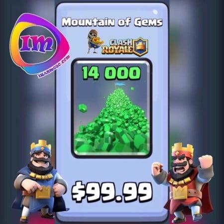 ۱۴۰۰۰ GEM بازی clash royale