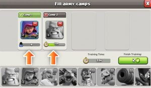 army camps coc 300x175 - دهکده دوم کلش آف کلنز