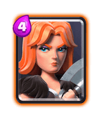 clash royale valkyrie - عرشه ماینر دارت گوبلین