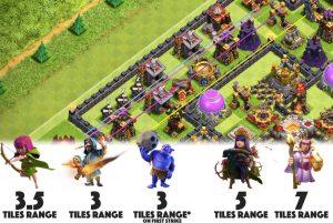 troop ranges 1 300x201 - دیوار در بازی کلش اف کلنز