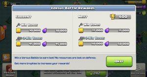 versus battle rewards 300x158 - دهکده دوم کلش آف کلنز