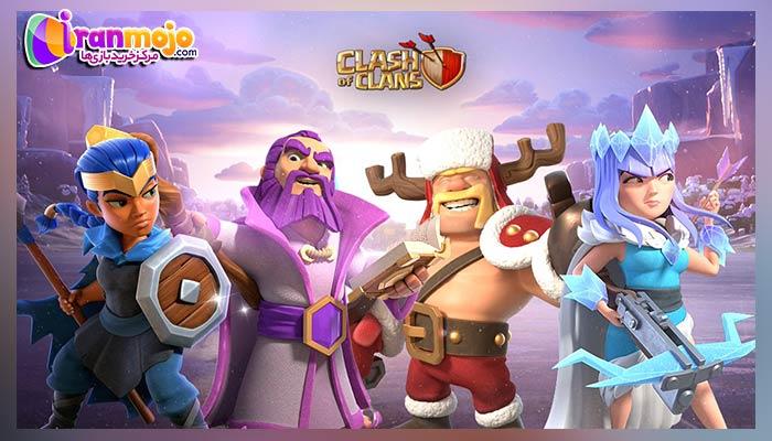 قهرمان ها بازی clash of clans