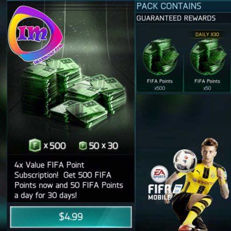 پک Daily Fifa Points فیفا موبایل