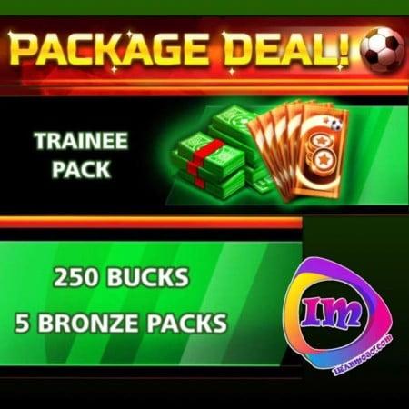 ایونت Package Deal-Trainee Pack(شامل۲۵۰دلارو۵پک برنز)