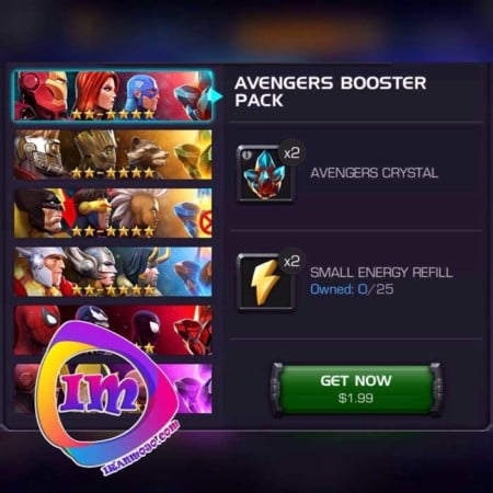 پک Avengers Booster Pack بازی محبوب Marvel Contest of Champions