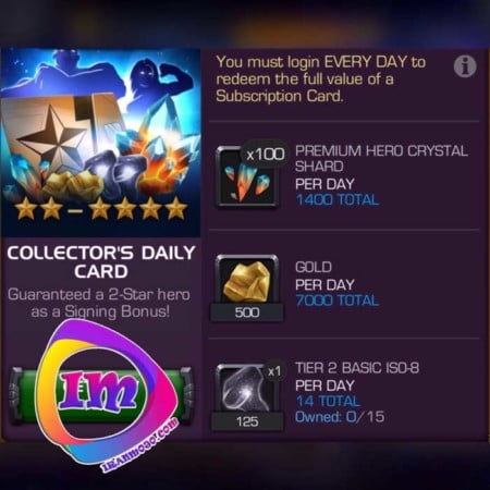 دریافت پک Collector's Daily Card