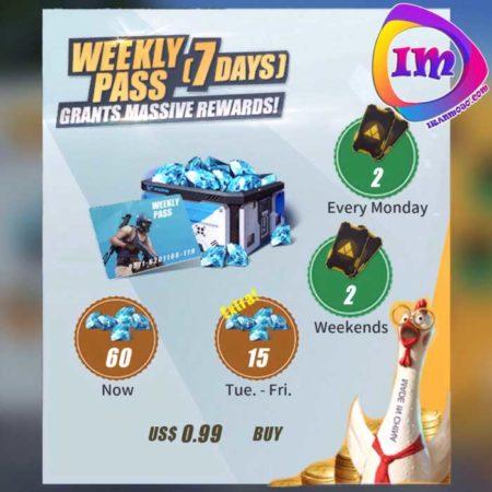 پک weekly pass بازی rules of survival