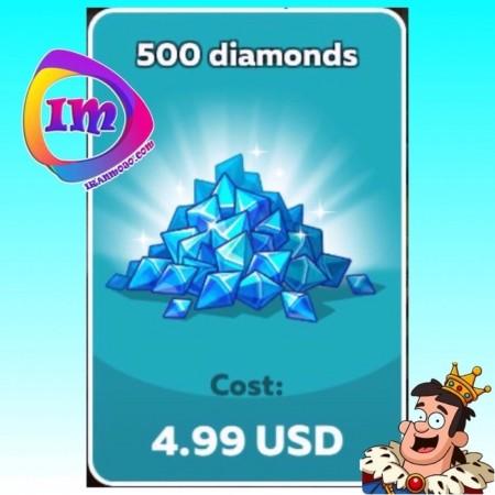 ۵۰۰ الماس Hustle Castle(شامل۱۰۰۰ الماس دراولین خرید)