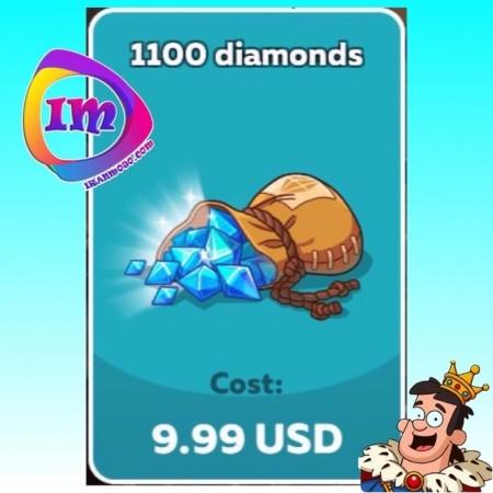 ۱۱۰۰ الماس Hustle Castle(شامل۲۲۰۰ الماس دراولین خرید)