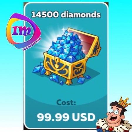 ۱۴۵۰۰ الماس Hustle Castle(شامل۲۹۰۰۰ الماس دراولین خرید)