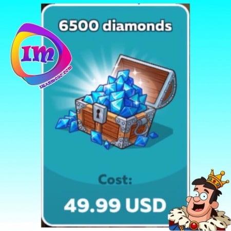 خرید ۶۵۰۰ الماس Hustle Castle