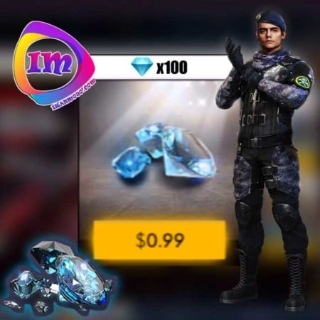 خرید ۱۰۰ الماس بازی Garena Free Fire