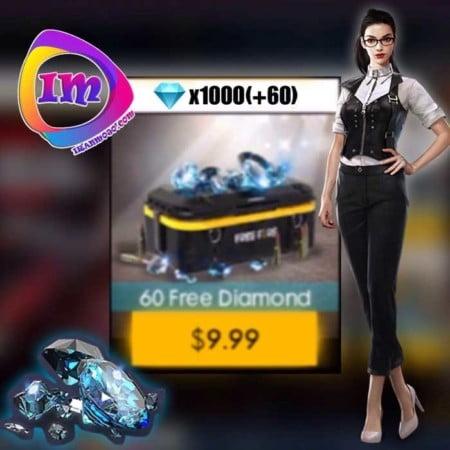 خرید ۱۰۶۰ الماس Garena Free Fire