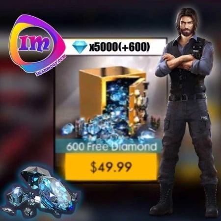خرید ۵۶۰۰ الماس Garena Free Fire