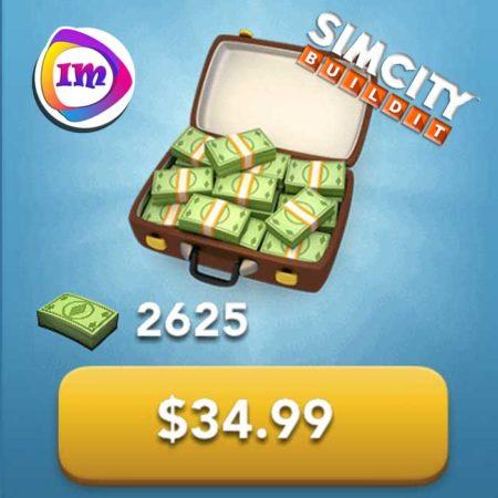 ۲۶۲۵ دلار بازی SimCity