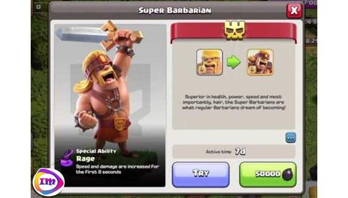 Super Bararian در کلش آف کلنز