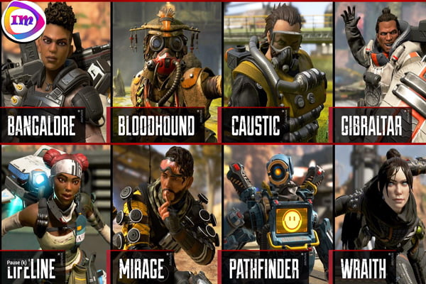 APEX Legends game characters